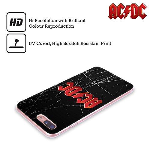 Ufficiale AC/DC ACDC Rosso Logo Cover Morbida In Gel Per Apple iPhone 6 / 6s Rosso