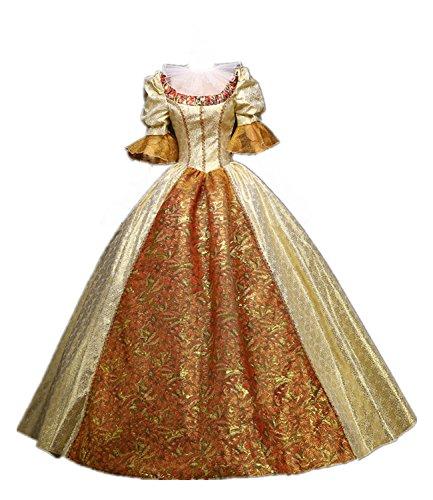 Nuoqi donna abito vestito con petticoat vittoriano vintage medievale masquerade abiti