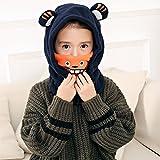 Baumwoll-Warm-Ohr-Schutz-Hals für Kinder aus Baumwolle und Kapuze aus Kaschmir mit Kapuze,C,Gemeinsame Größe