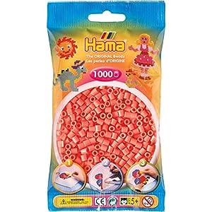DAN Import Hama 207-44 - Cuentas para planchar (1000 unidades), color rojo pastel importado de Alemania