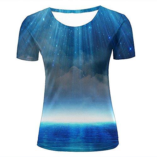 qianyishop Mens 3D Printed Light-Design-Patterns-Hope-Skies-Sea Graphic Couple T-Shirts D