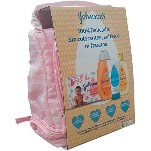 JohnsonŽs Baby Mochila Rosa Champú Clásico + Colonia Baby + Crema De Pañal + Toallitas Gentle All Over