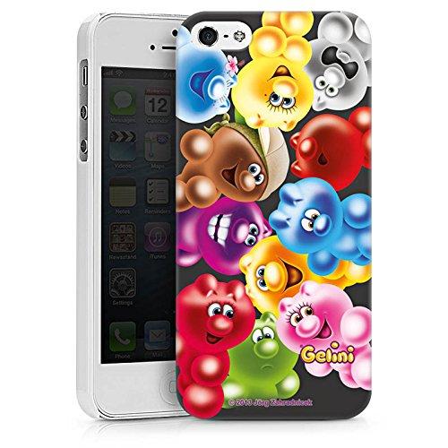 Apple iPhone X Silikon Hülle Case Schutzhülle Gelini Gummibaerchen Bunt Hard Case weiß