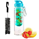 Andrew James Cold Infusion Water Bottle With Fruit Infuser | BPA Free Plastic