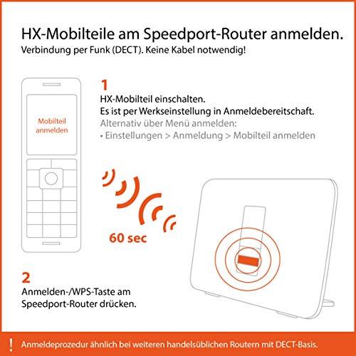 Gigaset S850HX Telefon – Schnurlostelefon / Universal Mobilteil – mit Farbdisplay – Dect-Telefon –  schnurloses Telefon – VoIP – Router – kompatibel –  platin - 3