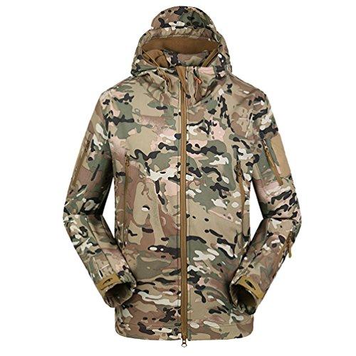 Yuandian uomo tattico militare caccia softshell giacche impermeabile vento pile fodera escursionismo campeggio giubbini con cappuccio sci alpinista cappotti cp l