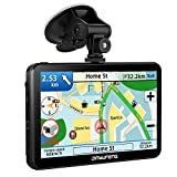 JinYuFeng GPS Voiture,2019 Latest GPS 7 Pouces écran Tactile Multi-Langue Intelligent Voice Play,Europe 52 Carte Pays Mise à Jour Utilisation Gratuite dans Voiture et Camion