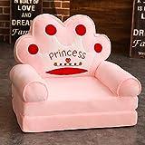 WAYERTY Kindersessel, Kindersofa Cartoon Mädchen und Jungen Geburtstagsgeschenk Spielzeug Faul Polstermöbel Cute Baby Kleines Sofa Sitz Mini-Sessel Waschbar-RosaA 50x40x45cm(20x16x18inch)