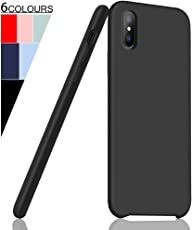 "iPhone XS Max Hülle, Fuleadture [Unterstützt Wireless Ladegerät] Original Liquid Silikon Schutzhülle Flüssigsilikon Mikrofaser Handyhülle Case Cover für Apple iPhone XS Max 6,5"" 2018"