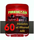 Firemask - Maschera di emergenza/respiratoria industriale e urbana, protegge per 60 minuti da incendi, gas e inalazioni di fumo Ideale per casa, ufficio, camion, grattacieli. Per avere una preoccupazione in meno.