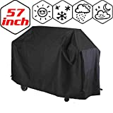 Luniquz Garden BBQ Cover Barbecue Protector Outdoor Burner Grill Dust Rain Cover Heavy Duty, Waterproof, UV Repellent, Double Stitching, Elastic Hem Cord, Weather Protective for Gas Electric Charcoal Grill /57