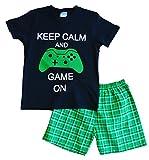 Keep Calm and Game On kurze Pyjamahose, 9–14Jahre, grün kariert Gr. 13 Jahre, schwarz