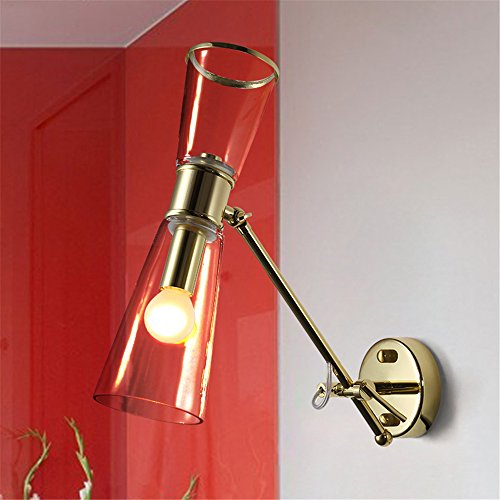 JhyQzyzqj Wandbeleuchtung Einfache moderne Treppe kreative Atmosphäre Wohnzimmer Schlafzimmer Nachttisch Lampe Hotel Korridor Gang Wandleuchten verstellbare Klappen Lampen (Klappe Verstellbare)