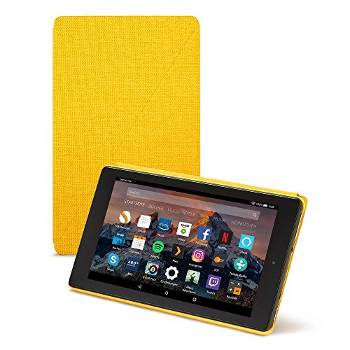 Amazon Fire HD 8-Hülle (8-Zoll-Tablet, 7. und 8. Generation - 2017 und 2018), Gelb - Cover Fire Für Kindle Hd Den