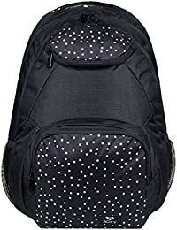 Roxy Shadow Swell Mochila Mediana, Mujer, Gris/Negro (True Black Dots for