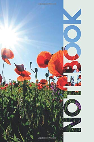 Notebook: Poppy Field Useful Composition Notebook for Amapola Fans