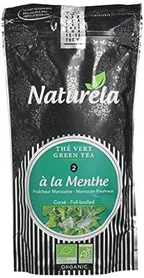 NATURELA Thé Vert Menthe Marocaine Bio Chine N° 2 100 g - Lot de 6