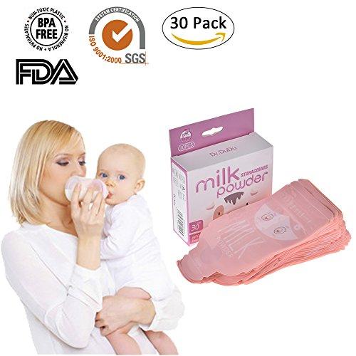 30pcs Wegwerfbaby Formel-Milchpulver Beutel Beutel-Behälter Zufuhr Aufbewahrungsbeutel Bpa-freie auslaufsichere wiederverwendbare Kleinkinder einfache Dichtung sterilisierte Säuglingsbehälter tragbarer Kasten Organisator (Babys Bio-formel)