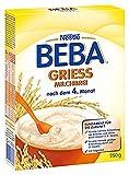 Nestlé BEBA Milchbrei Grieß, nach dem 4. Monat, 250 g Faltschachtel, 1er Pack (1 x 250 g)