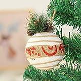 Hffan Hanfseil Weihnachtsbaum Dekoration Hängende Kugel Weihnachtsdekoration Dekoration Weihnachtsbaum Anhänger Runde Sphärisch(A,8x11cm)