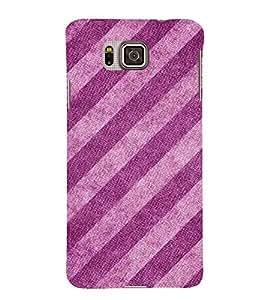 Slant Pattern 3D Hard Polycarbonate Designer Back Case Cover for Samsung Galaxy Alpha G850