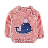 MRULIC Kinder Strickpullover Baby Winter Sweatshirt Gestricktes Langarm Pullover 0-4 Jahre Baby Mädchen und Jungen Unisex Pullover aus Strickjacke Baby Sweatjacke Winter Herbst Pullover