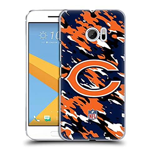 Official NFL Camou Chicago Bears Logo Hard Back Case for HTC 10