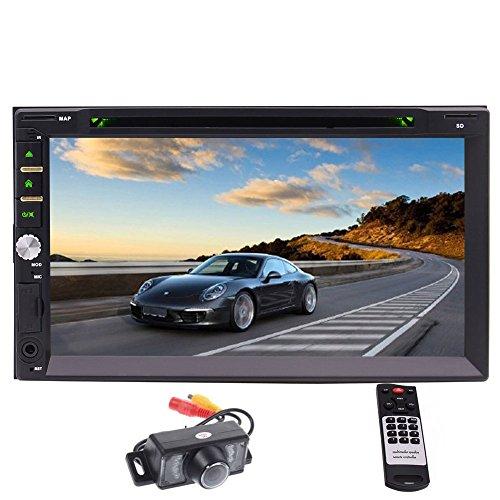 "EinCar 7"" Zoll-Touchscreen im Armaturenbrett Doppel-DIN-Car DVD-Player Stereo Bluetooth Musik DVD CD MP3 FM AM Radio Receiver SD USB NO-GPS + hintere Kamera + Fernbedienung"