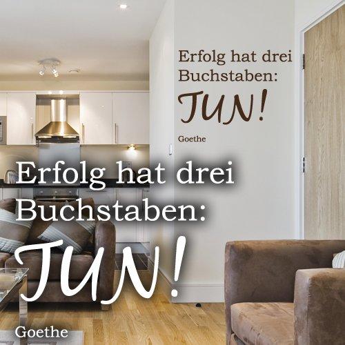 """Wandkings Wandtattoo """"Erfolg hat drei Buchstaben: TUN! (Goethe)"""" 50 x 40 cm – erhältlich in 33 Farben und 5 Größen"""