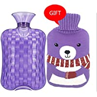 Baoffs Luxus-Wärmflasche Dick und sicher 2 Liter Heißwasserflasche Heißwasserbeutel für Schmerzen kalt mit Stricken... preisvergleich bei billige-tabletten.eu