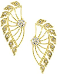 Archi Collection Gold Plated Fancy Party Wear Ear cuffs Earrings For Girls and Women