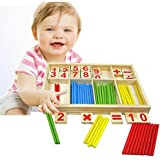 Counting Sticks Toys - Baby Preschool Montessori Counting Math Education Toys For Boys And Girls - Mathematical Intelligence Stick Building Blocks Gift - By Shuban