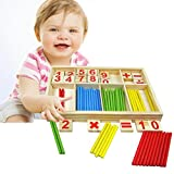 #5: Counting Sticks Toys - Baby Preschool Montessori Counting Math Education Toys for Boys and Girls - Mathematical Intelligence Stick Building Blocks Gift - by Shuban