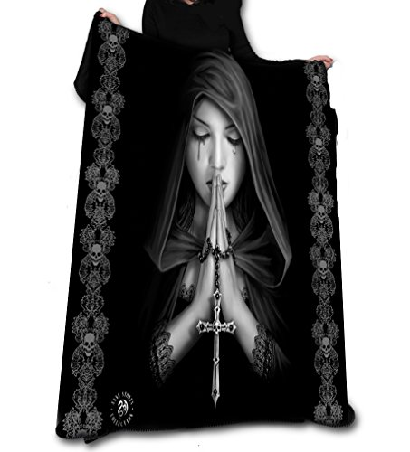 GOTH PRAYER Fleece Decke / Wurf /