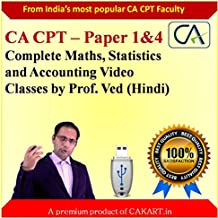 CA CPT Complete Maths , Statistics and Accounting video lectures by Prof.Ved (Hindi)
