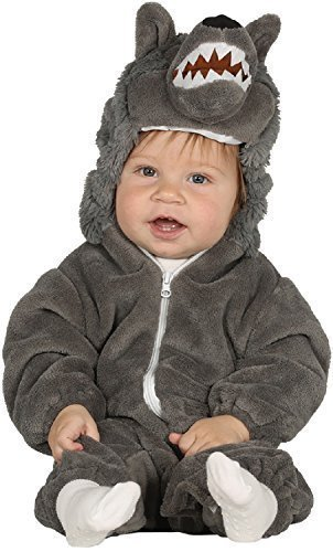 en Junge Big Bad Wolf Kinderlied süß Halloween Kostüm Outfit Verkleidung 6-12-24 Monate - 6-12 Months ()