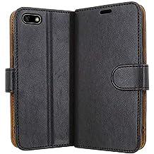 0a2f16c9d69f6 Case Collection Funda de Cuero para Huawei Y5 Prime 2018 Estilo Cartera con  Tapa abatible y