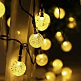 Salcar 5 Meters Solar Waterproof fantasy String Lights 20 LED Crystal Globe Christmas Decorative Lamp for Outdoor, Garden, Home, Wedding, Xmas New Year Party Ornaments2 [Energy Class A++] warm white