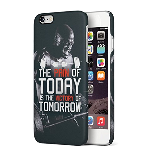 Gym No Pain No Gain Muscles Apple iPhone 6 / iPhone 6S SnapOn Hard Plastic Phone Protective Custodia Case Cover Pain Of Today