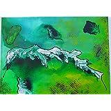Original MisQue Art | Abstraktes Acrylbild Dschungel 50x70 cm