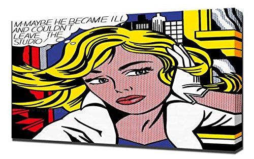Lilarama Roy Lichtenstein Studio - Pop Art Leinwandbild - Kunstdrucke - Gemälde Wandbilder