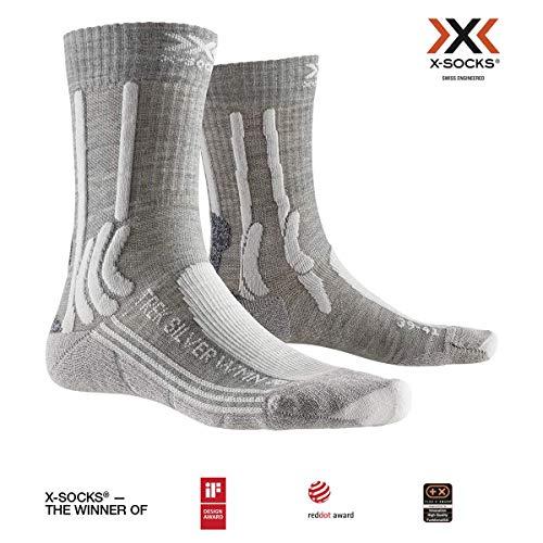 X-Socks Damen Trek Silver Socks, Dolomite Melange/Pearl Grey, 41-42 -