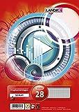LANDRE 100050489 Ringbucheinlagen A4 50 Blatt kariert mit Doppelrand 70 g/m² runde Ecken gelocht Ringbuch-Einlage Papier-Einlage