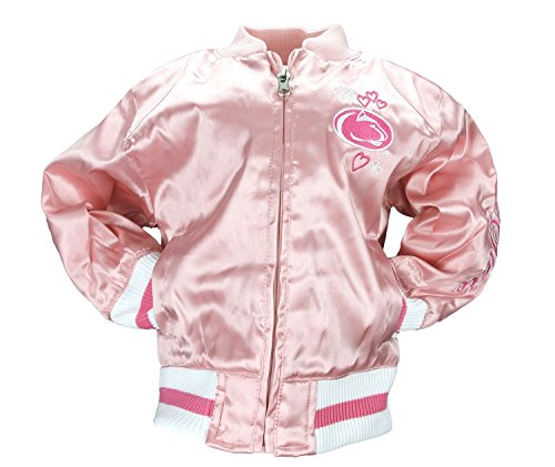 Adidas NCAA Little Mädchen Säuglinge und Kleinkinder Rosa Satin Cheer Jacke, Team Optionen, Mädchen, Penn State Nittany Lions (Lion Jacke Kinder)