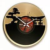 DISCOCLOCK Disc'o'Clock Horloge Vinyle Sunset, Or