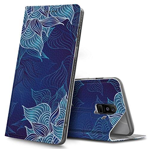 Samsung Galaxy A6 Plus Premium Flip Case, Blau