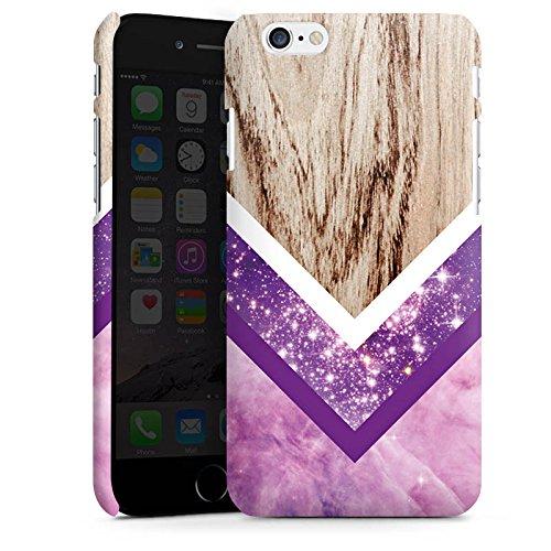 Apple iPhone X Silikon Hülle Case Schutzhülle Holz Look Glitzer Hipster Muster Premium Case matt