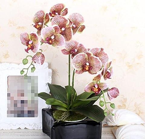 SituMi Künstliche Fake Blumen schöne braune Orchid kreative Topfpflanzen kreative Räume Dekoration