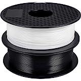 PLA Filament 1.75mm,GIANTARM 3D Drucker PLA filament 2 kg Spool (schwarz+Weiß)