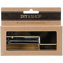 American Crafts DIY Shop 4 agrafeuse de Bureau avec 100 agrafes, Multicolore, 12.57 x 10.1 x 3.17 cm